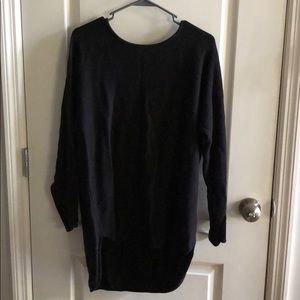 Michael Kors high-lo black sweater size L